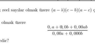 Acil yapılması lazım matematik