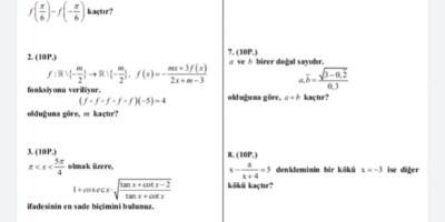 Matematik sorular