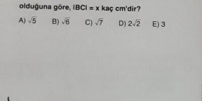 Matematik sorusu lütfen yardım