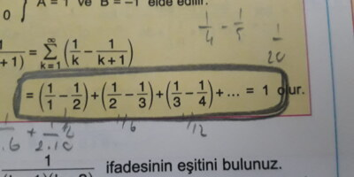 Bu ifadelerin bir formülü var mı sonucun 1 olduğuna nasıl ulaştık