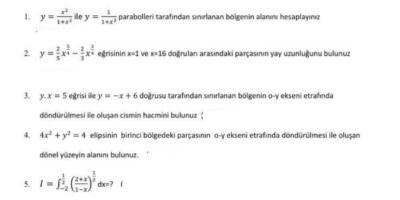 Üniversite matematik